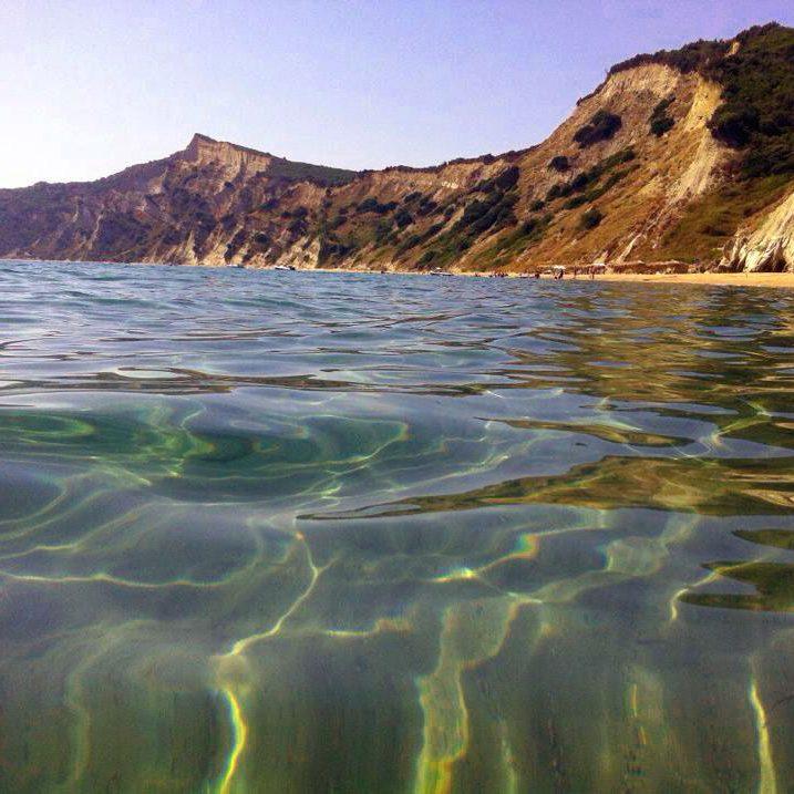 Arkoudilas beach in Corfu Lefkimi